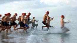 triatlon úszás rajt