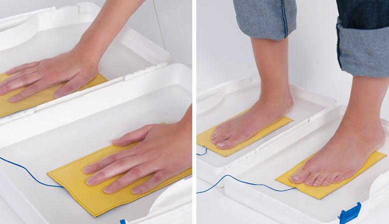 kóros kéz és láb izzadás kezelése iontoforézissel
