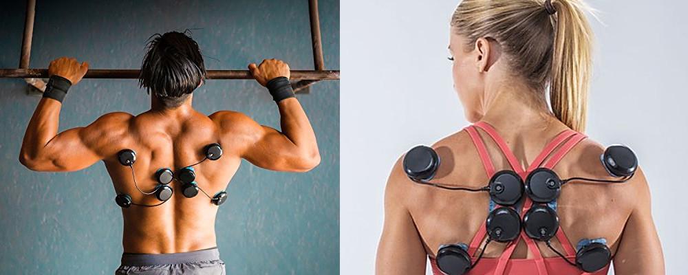edzéskiesés és izomstimuláció a hátizmokon